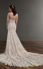 'Martina Liana 'ML803CRZP' size 6 used wedding dress back view on model