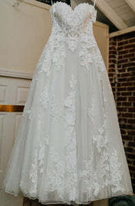 JUSTIN ALEXANDER 'Ruthie 88122' wedding dress size-08 PREOWNED