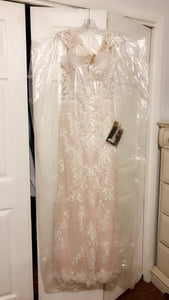 Essense of Australia 'D2205' size 12 new wedding dress front view on hanger