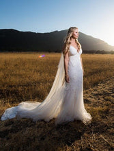 Load image into Gallery viewer, Amsale 'Kalel' size 6 used wedding dress front view on bride