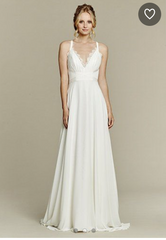 Hayley Paige 'Palermo' size 12 used wedding dress front view on model