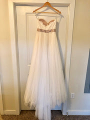 Wtoo 'Rowena' size 2 used wedding dress back view on hanger