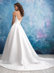 Allure '9570' size 14 new wedding dress back view on model
