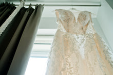 Load image into Gallery viewer, Galina Signature 'SWG722' size 0 used wedding dress front view close up