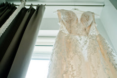 Galina Signature 'SWG722' size 0 used wedding dress front view close up