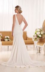 Essence of Australia 'Modern Classic' size 0 used wedding dress back view on model