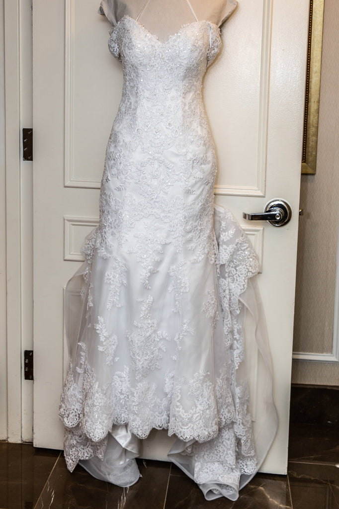 Maggie Sottero 'Ireland' size 6 used wedding dress front view on hanger