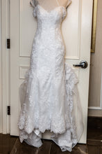 Load image into Gallery viewer, Maggie Sottero 'Ireland' size 6 used wedding dress front view on hanger