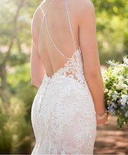 Load image into Gallery viewer, Essense of Australia 'High Neck Boho' size 4 new wedding dress back view on bride