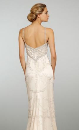 Lazaro '3307' size 10 new wedding dress back view on model