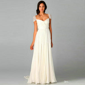 Reem Acra 'Olivia' size 10 used wedding dress front view on model