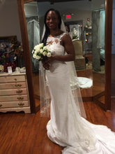 Load image into Gallery viewer, Pronovias 'Agata' size 6 used wedding dress front view on bride