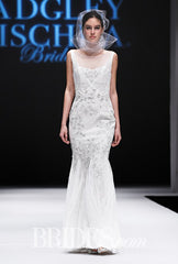Badgley Mischka 'Lake' size 4 sample wedding dress front view on model