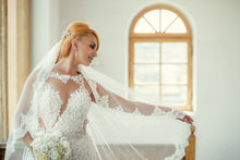 Load image into Gallery viewer, Bridal Reflections 'Two In One' size 6 used wedding dress front view on bride