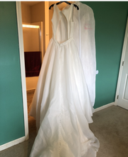 Load image into Gallery viewer, Maggiero 'Anita' size 14 sample wedding dress back view on hanger