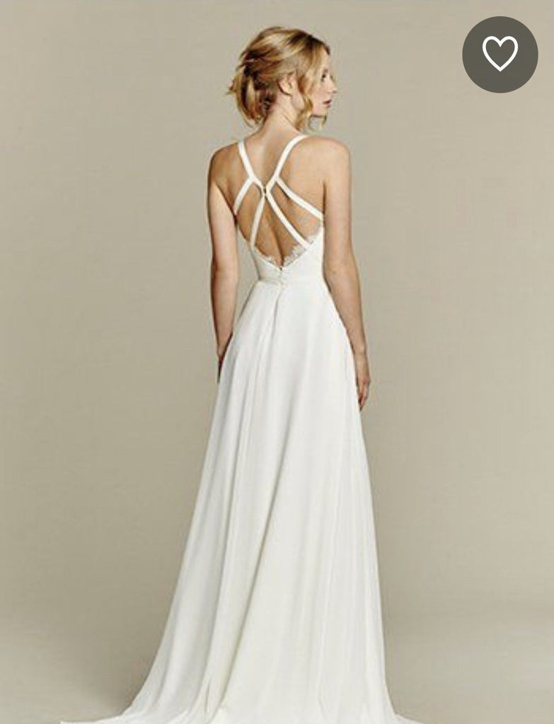 Hayley Paige 'Palermo' size 12 used wedding dress back view on model