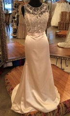Tara Keely '2455' size 8 used wedding dress front view on mannequin