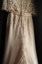 Load image into Gallery viewer, Casablanca 'Primrose' size 2 used wedding dress back view on hanger