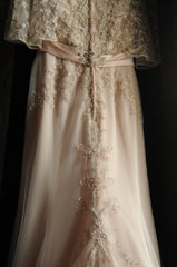 Casablanca 'Primrose' size 2 used wedding dress back view on hanger