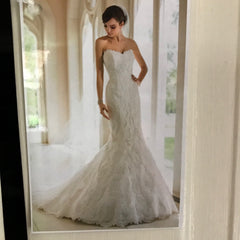 Stella York '5840' size 14 new wedding dress front view on model