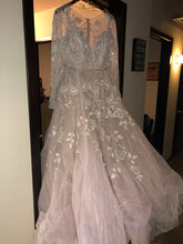 Load image into Gallery viewer, Hayley Paige 'Hayley' size 20 used wedding dress front view on hanger