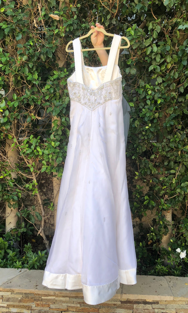 Melissa Sweet 'Beaded A-Line' size 16 used wedding dress back view on hanger