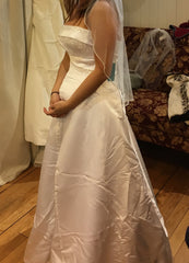 Maggie Sottero 'Haut Couture' size 8 used wedding dress side view on bride