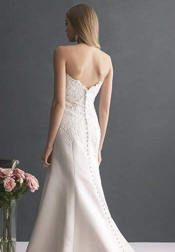 Allure 'Romance' size 10 used wedding dress back view on model