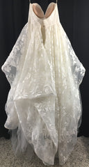 Hayley Paige 'Lulu' size 6 used wedding dress back view on hanger
