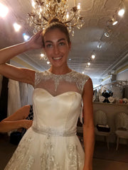 Cristiano Lucci 'Raquel' size 4 new wedding dress front view on bride