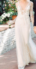 Inbal Dror 'Custom' size 4 used wedding dress front view on bride