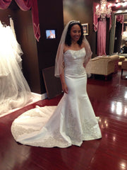 Winnie Couture 'Constance' Satin Pearl - Winnie Couture - Nearly Newlywed Bridal Boutique - 2