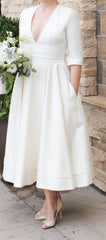 BHLDN 'Prospere' size 12 used wedding dress front view on bride