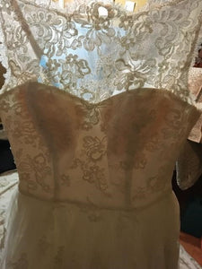 Priscilla of Boston 'Trish Vineyard Collection' wedding dress size-10 SAMPLE