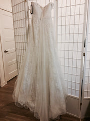 Lillian West '6349' size 6 new wedding dress back view on hanger