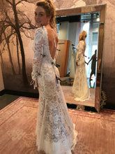 Load image into Gallery viewer, Watters 'Luna' size 8 new wedding dress back view on bride