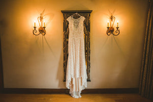Allure Bridals 'Fern' size 12 used wedding dress front view on hanger