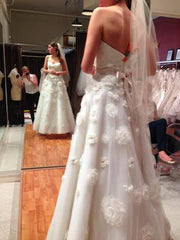 Tara Keely Style 2106 with floral embellishments - Tara Keely - Nearly Newlywed Bridal Boutique - 5
