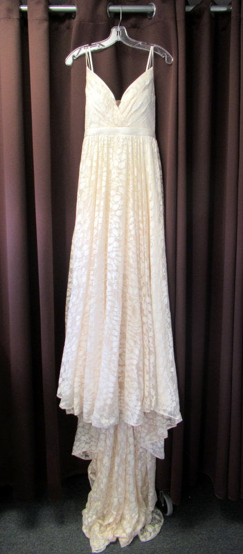 Truvelle 'Custom' size 4 used wedding dress front view on hanger
