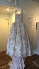 Ysa Makino '68985' size 6 used wedding dress front view on hanger