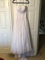 Casablanca '2108' size 6 new wedding dress front view on hanger