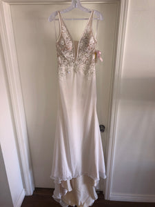 Mori Lee 'Malin' size 6 new wedding dress back view on hanger