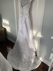 Casablanca '1852' size 16 used wedding dress back view on hanger