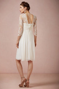 BHLDN 'Omari' size 4 used wedding dress back view on model