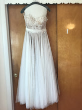 Load image into Gallery viewer, Watters 'Penelope' size 6 used wedding dress front view on hanger
