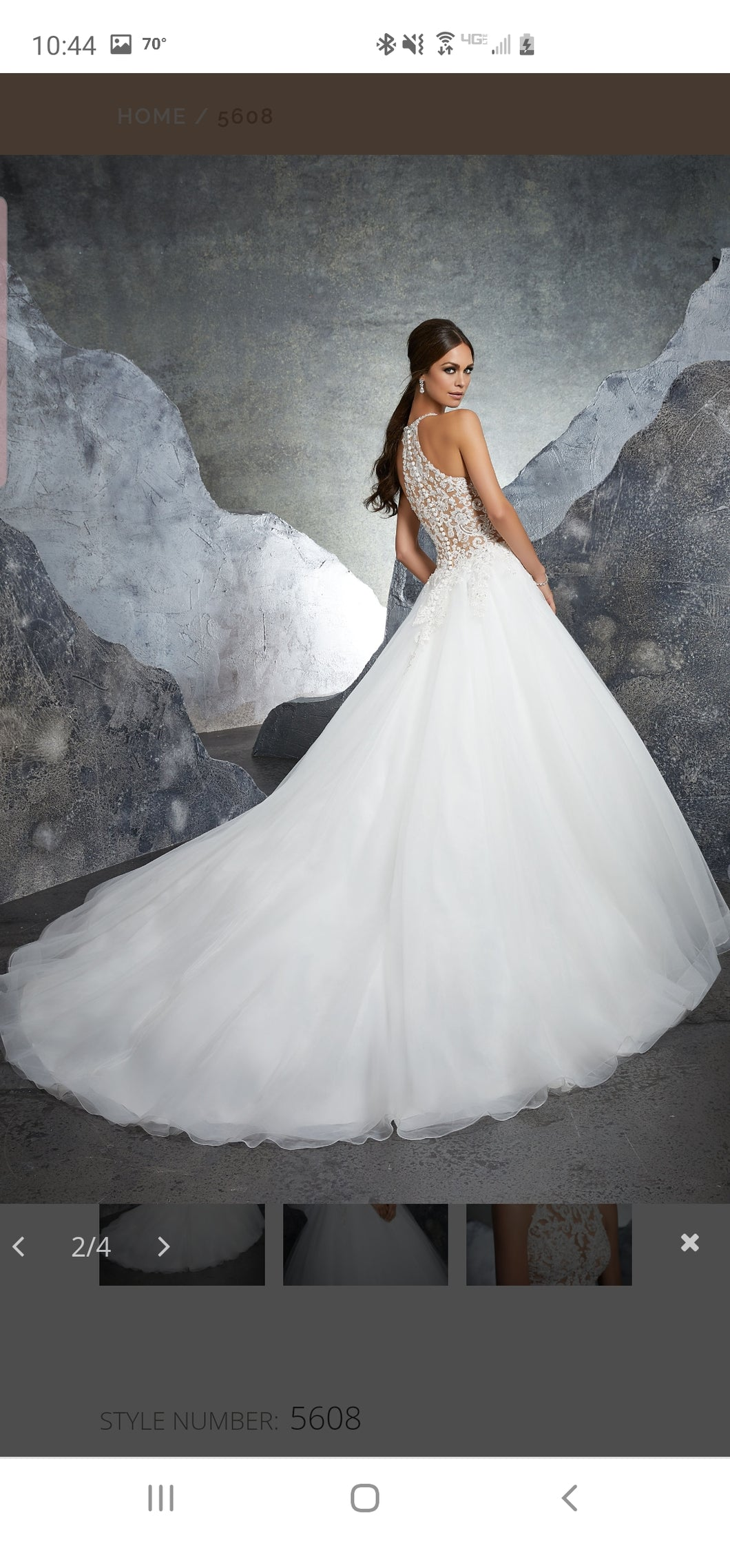 Mori Lee 'Brand New' size 12 new wedding dress back view on model