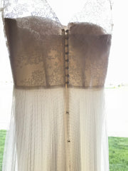 Rebecca Schoneveld 'Julie' size 8 used wedding dress back view on hanger