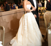 Load image into Gallery viewer, Maria Farbinni 'Elise' size 4 used wedding dress side view on bride