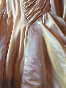Christian Dior 'Galliano Peach Velvet' size 4 used wedding dress front view of train