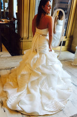 Hayley Paige 'Keaton' size 10 new wedding dress back view on bride